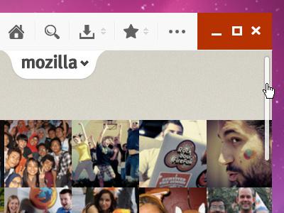 Concept Design - Frameless Firefox Browser ui ux gui user interface user experience metro ui metro