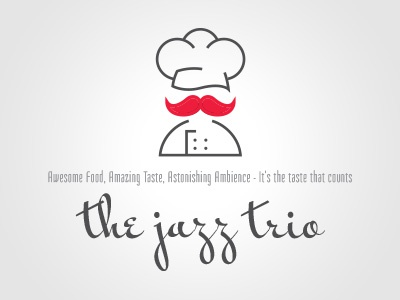 The Jazz Trio Logo identity logo