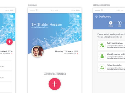 MDL Design for Daily Medication Reminder App user experience user interface android material design mdl