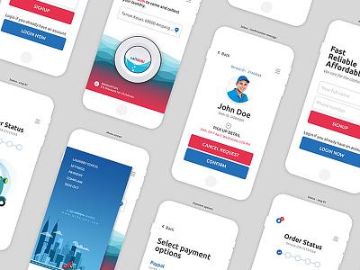 CallDobi - mobile app mockup laundry interaction design user interface mockupup mobile app