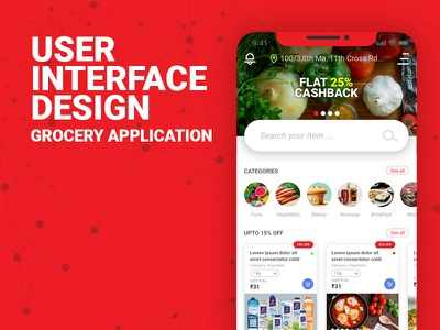 User Interface Design for a Grocery Mobile App ui uxr ux