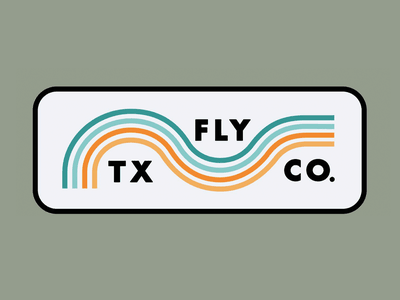 River Wave illustration design branding type adventure thicklines apparel flyfishing rio rivers trout flyfish fly texas wave river