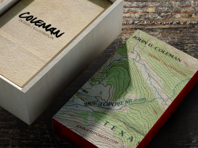 Topo cards by john coleman dribbble my business name topo bear i decided to make topographical business cards that naturally incorporated my info as if it were a real topographical map colourmoves