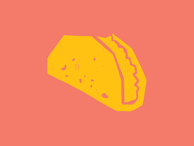 Taco texmex texas surf papercut mexico ink illustration icon fiesta blockprint taco
