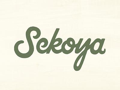 Sekoya texture lettering typography type script hike nature wilderness adventure sekoya