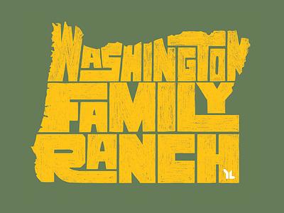 Washington Family Ranch state oregon pencil texture typography type camp ranch family washington