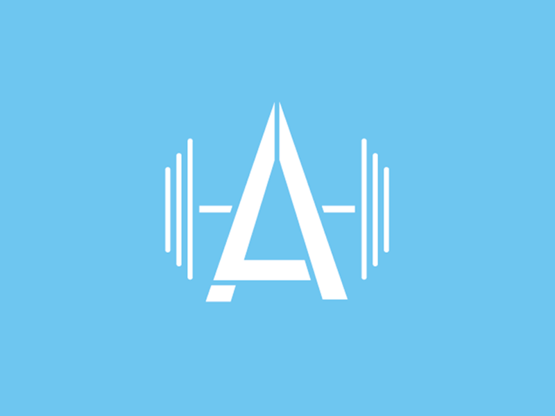 Lauren Aikins Personal Training clean modern training fitness logotype logo
