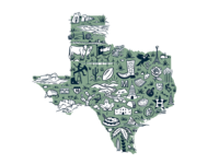 Texas Landmark Map