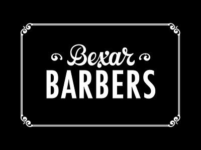 Bexar Barbers script type handlettering satx san antonio texas scissors shears razor barber barbers bexar