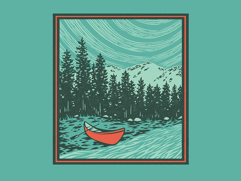 Canoe + River by John Coleman on Dribbble