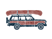 Jeep & Canoe