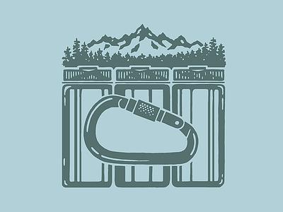 Nalgenes illustration design apparel mountains colorado wilderness carabiner bottle water adventure nalgene