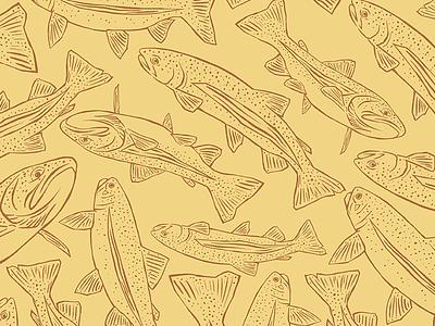 Trout Wallpaper illustration icon design apparel adventure mountain colorado flyfishing fishing fish river trout