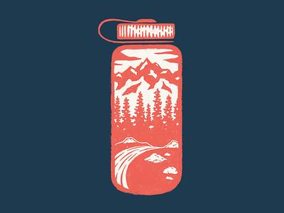 Nalgene Trail texture apparel trees trail peak wilderness adventure hike mountain nalgene