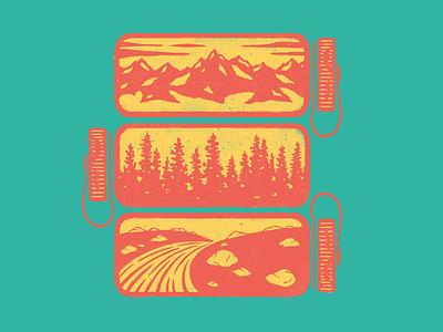 Nalgene Stack mountain colorado peak nalgene texture apparel adventure fish trout trail backpack hike camp