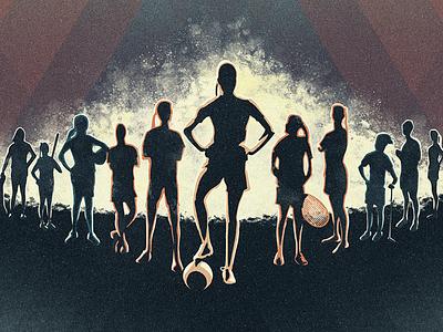 The Dreamers baseball golf academy stadium lineup tennis soccer women sports texture render photoshop artist art illustrator illustration poster design film poster dreamers