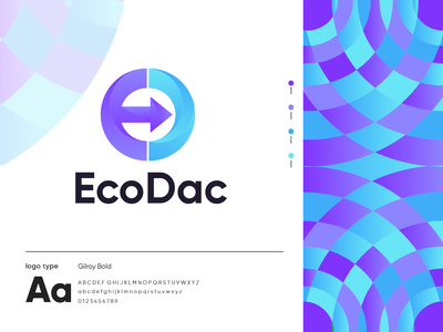 EcoDac logo design brand logo brand color abstract monogram unique d e modern logo modern vector letter logo graphic design design art latter branding typography logo icon