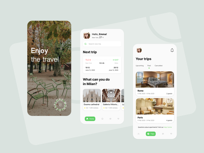 Travel app mobile app design travel app design light clean tourism tours ticket ios traveling minimal photo adventures ui design mobile trip travel app concept
