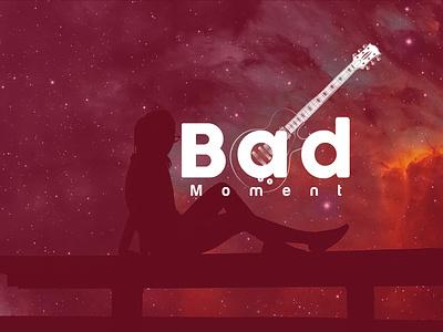 Bad Moment Music Logo Design vector corporate identity minimalist logo design typography minimal design minimalist logo modern logo graphic design brand identity creative logo song logo music logo