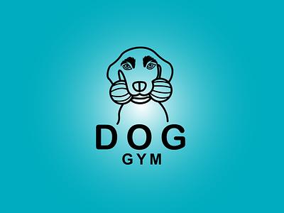 DOG GYM LOGO dog portrait puppy cat logo modern dog usa business logo dog lover doggy dog care dog training dog illustration dog logo dog dog gym logo