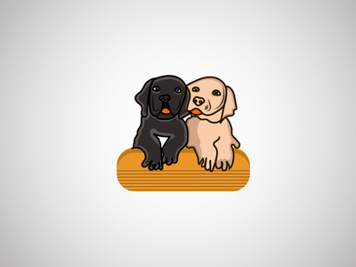 Dog Friend Lover Logo branding illustration puppy dog dog art pets doggy dog lover dogs cat logo cat dog video dog hospital dog care logo dog illustration dog care dog logo dog
