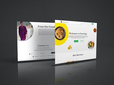 Creative Catering Website xd xd design web website concept websites ux  ui ux design uxdesign ui design ui  ux uidesign uiux website design web design webdesign website ux ui graphic design design