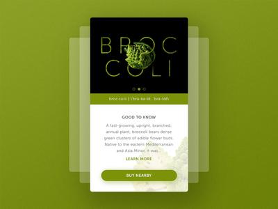 Mobile Profile UI : Broccoli