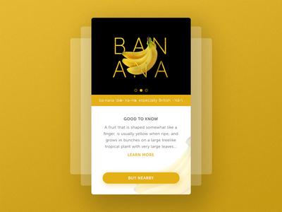 Mobile Profile UI : Banana