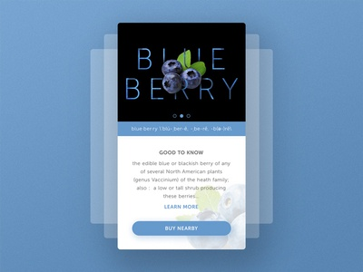 Mobile Profile UI : Blueberry
