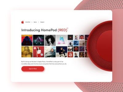🍎 Apple Homepod Red Landing