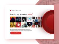 🍎 Apple Homepod Red Landing