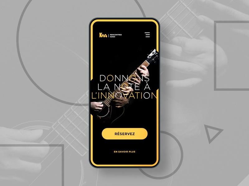 Mobile Music Event UI typography conceptual creative clean app ui ux interface design art direction clean visual mobile responsive mobiledesign