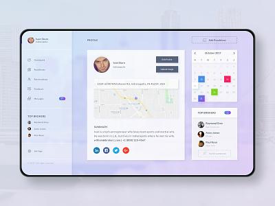 SaaS Profile UI profile webapp startup b2b b2c sketch saas creative digital product web visual app clean ux interface ui design