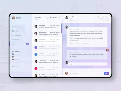 Web App Messaging UI webapp startup b2b b2c sketch saas creative digital product web visual app clean ux interface ui design messaging messaging app