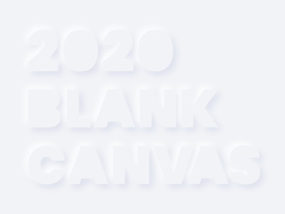 New Year's Blank Canvas daily 100 challenge daily happy new year 2020 digital vector creative visual clean art direction design