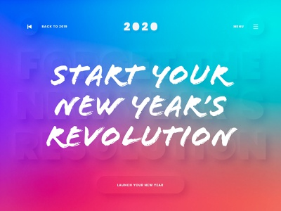 New Year Revolution weekly challenge weekly warm-up newyear typography conceptual digital web interface ui creative visual clean art direction design