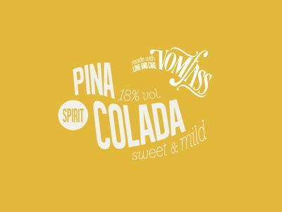 Dreamin' of Summer drink pina colada label