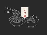 Noodle meet dipping sauce