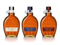 Booze & Pancakes pancakes moonshine bourbon lockup emboss bottle premium type branding packaging syrup cocktails spirits