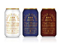 When Breakfast Meets Happy Hour moonshine script lockup type packaging cocktail spirits bourbon maple syrup branding can