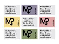Beer Means Business monogram beer branding logo identity brewery business card