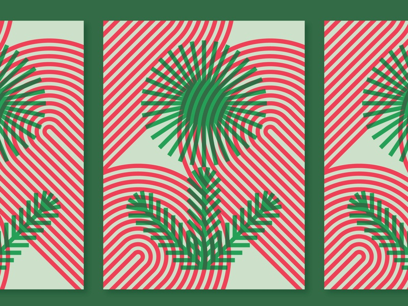 Posters for Parks 2020 parks minneapolis pine flower geometric vector plant illustration overprint poster