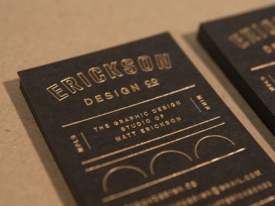 So fancy. personal branding minnesota minneapolis logo branding business card bridge gold print typography letterpress foilstamp