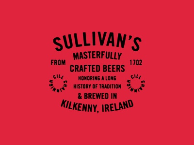 You Killed Kenny type texture typography lockup craft irish ireland beer brewing
