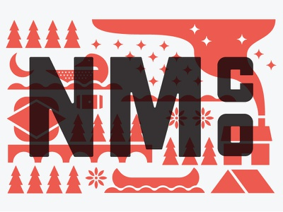 It's bout to be mural time up in here logo overprint trees stars minnesota camping nature cabin north illustration type mural