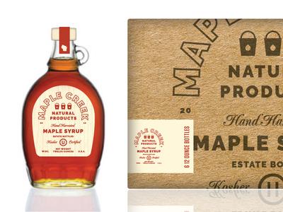 We Kosher? wisconsin kosher badge type lockup bottle box packaging maple syrup