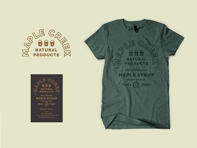 Kosher af rustic apparel shirt bucket badge business card wisconsin maple syrup lockup logo type