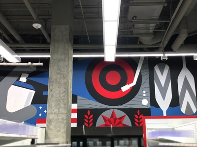 Target Uptown Murals (pt. 1) paddle painting city brewery grain minneapolis record paddles illustration target sign painting mural