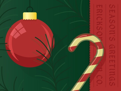 Christmas-y af holiday festive reflection vector illustration tree pine candycane ornament christmas