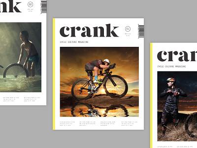 Crankin' grid layout publication zine magazine typography serif bicycle bike